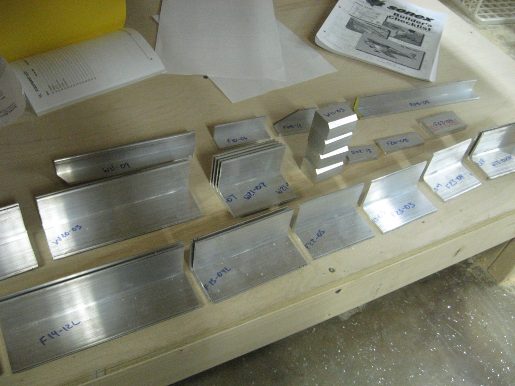 Aluminum pieces cut to size